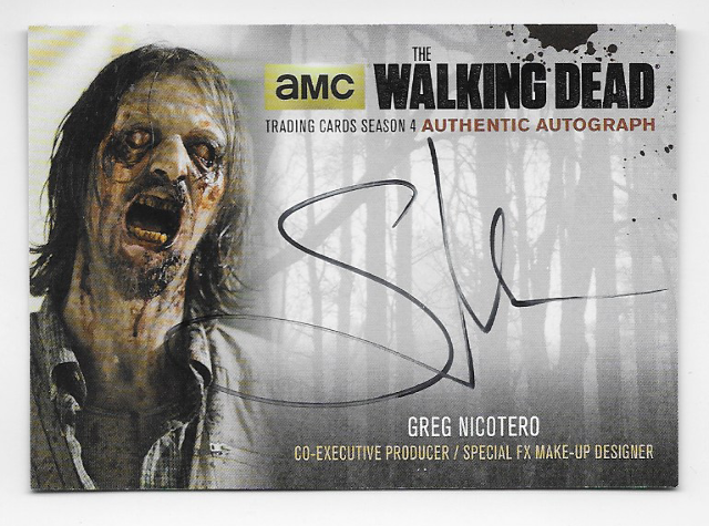 Greg Nicotero 2016 Cryptozoic Walking Dead season 4 auto Card GN4 Autograph