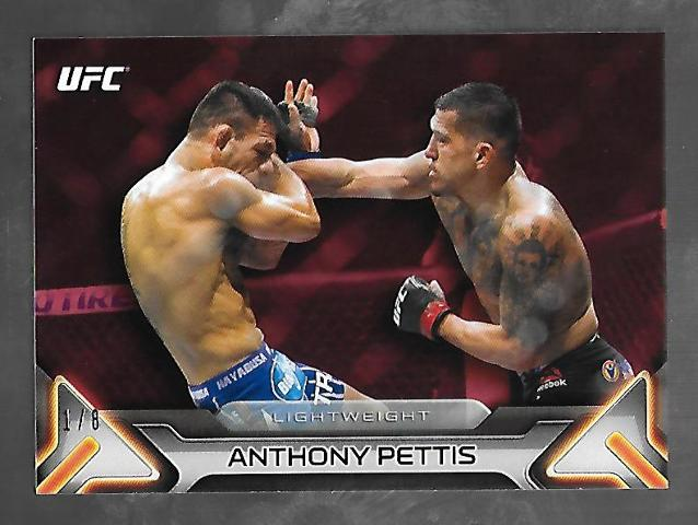 """ANTHONY """"SHOWTIME"""" PETTIS 2016 Topps UFC Knockout Red /8 Card #33"""