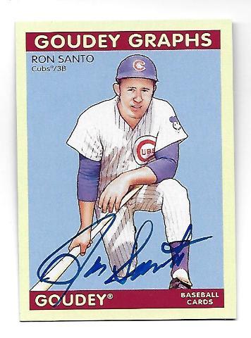 RON SANTO 2009 Upper Deck Goudey Graphs Autograph #GG-RS Chicago Cubs
