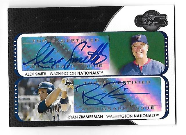 ALEX SMITH/RYAN ZIMMERMAN 2008 Topps Co-Signers Autograph #CS-SZ Nationals