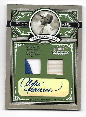 ANDRE DAWSON 2005 Donruss Timeless Treasures Material Ink auto patch /5