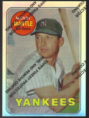 MICKEY MANTLE 1996 Topps Finest Commemorative Set 1969 Refractor #19