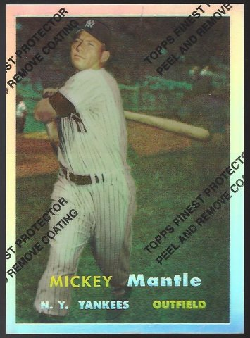 MICKEY MANTLE 1996 Topps Finest Commemorative Set 1957 Refractor #7