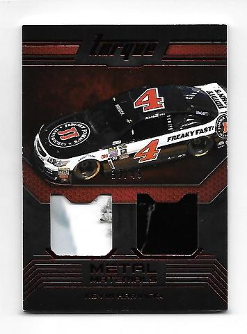 Kevin Harvick NASCAR 2016 Panini Torque Metal Materials 2 swatch red /49