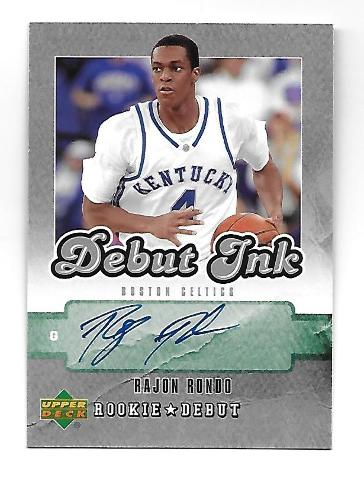 RAJON RONDO 2006-07 Upper Deck Debut Ink RC Autograph #DI-RR Boston Celtics