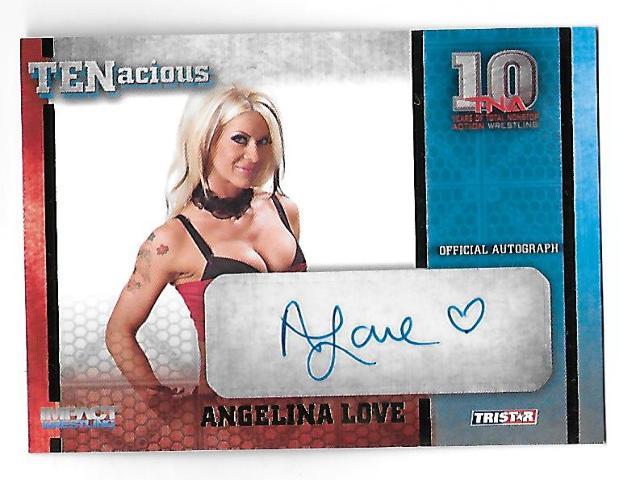 ANGELINA LOVE 2012 Tristar Impact Wrestling TNA TENacious auto /100 Autograph