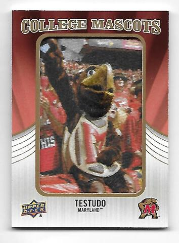 TESTUDO 2013 Upper Deck College Mascot Manufactured patch #CM-74