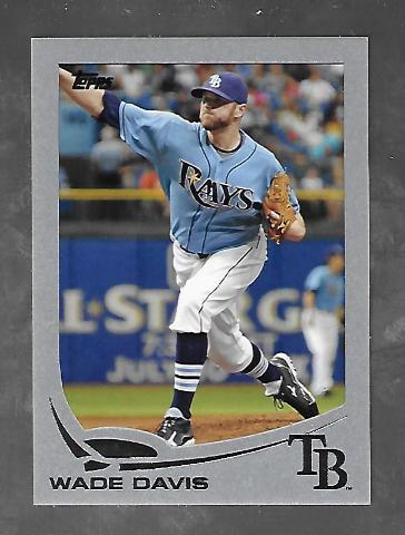 WADE DAVIS 2013 Topps Silver Slate Sparkle Wrapper Redemption  /10