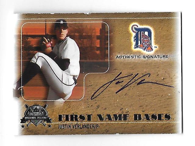 JUSTIN VERLANDER 2005 Fleer National Pastime First Name Bases /401