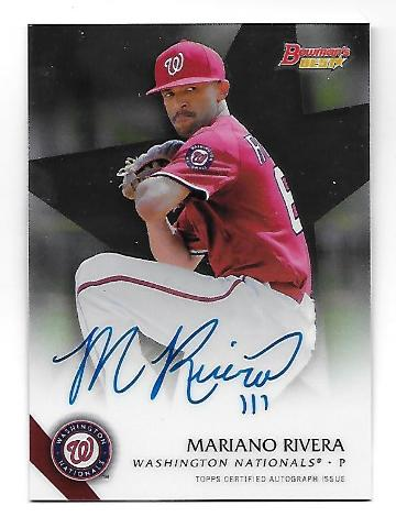 MARIANO RIVERA 2015 Topps Bowman's Best of 15 Auto Autograph #B15-MR Nationals