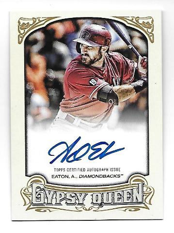 ADAM EATON 2014 Topps Gypsy Queen Autograph #GQA-AE Arizona Diamondbacks