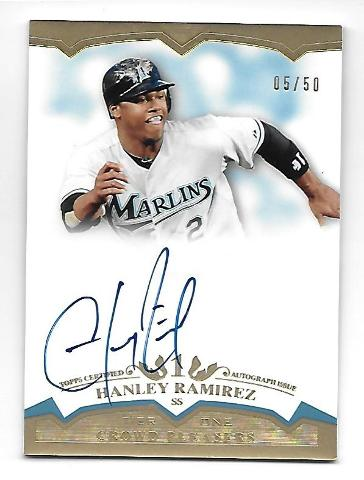 HANLEY RAMIREZ 2011 Topps Tier One Crowd Pleaser Autograph /50 Florida Marlins