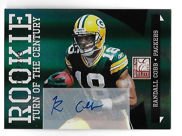 RANDALL COBB 2011 Donruss Elite Rookie Turn Century RC auto /299 Packers