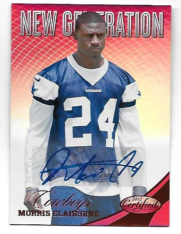 MORRIS CLAIBORNE 2012 Panini Certified Mirror Red RC auto /250 autograph