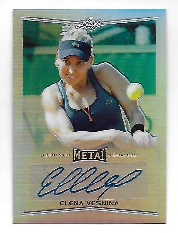 ELENA VESNINA 2016 Leaf Metal Tennis Prismatic Refractor auto #BAEVI autograph