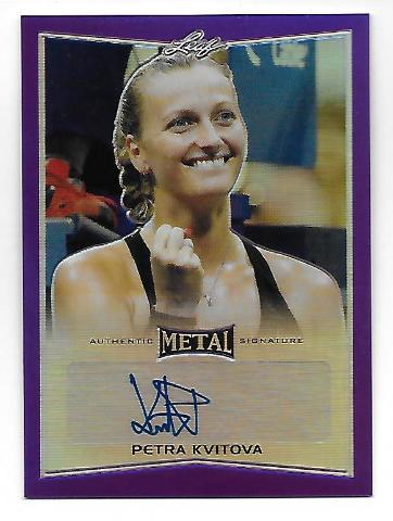 PETRA KVITOVA 2016 Leaf Metal Tennis Purple Prismatic Refractor autograph /10