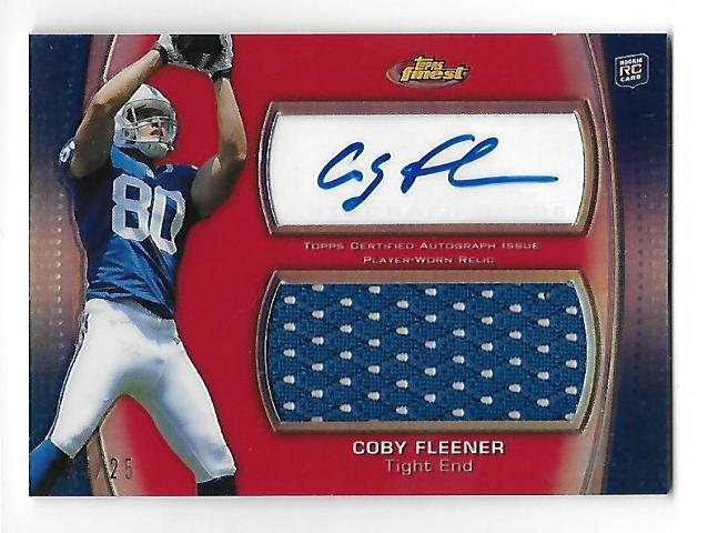 COBY FLEENER 2012 Topps Finest Jumbo Jersey Red Refractor auto autograph RC /25