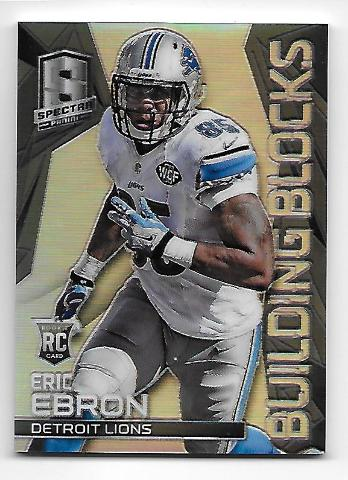 ERIC EBRON 2014 Panini Spectra Rookie RC Building Blocks Prizm Black /5