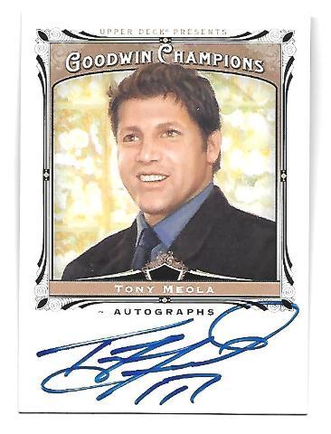 TONY MEOLA 2013 Upper Deck Goodwin Champions auto #A-TM autograph Red Bulls