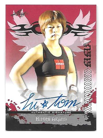 HITOMI AKANO 2010 Leaf MMA Metal UFC Authentic Signature auto #HA-AV1
