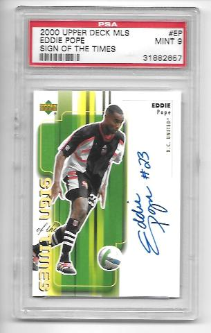 EDDIE POPE 2000 Upper Deck MLS Sign of the Times #EP PSA 9 MT