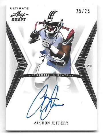 ALSHON JEFFERY 2012 Leaf Ultimate Draft Inscriptions Autograph auto 25/25 AJ1