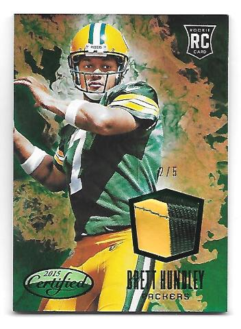 BRETT HUNDLEY 2015 Certified New Generation Jersey Mirror Green Patch /5 RC NGBH