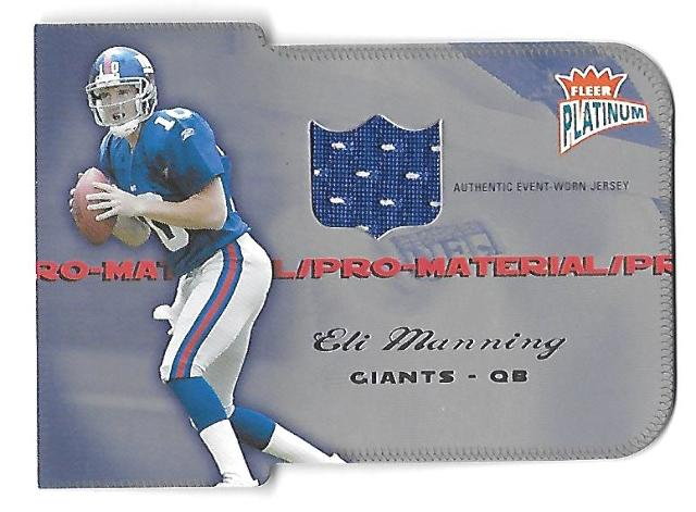 ELI MANNING 2004 Fleer Platinum Pro-Materials Die-cut patch /99 NY Giants RC