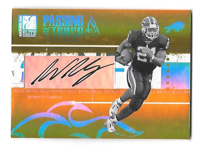 WILLIS McGAHEE 2005 Donruss Elite PAssing the Torch auto /100 Buffalo Bills