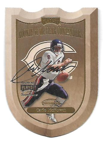 CADE McNOWN 1999 Playoff Contenders SSD ROY Contenders Shield die-cut auto /100