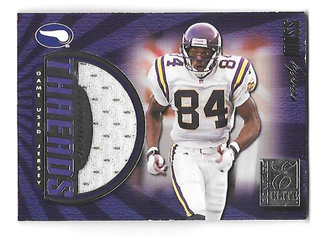 RANDY MOSS 1999 Donruss Elite Common Threads #2 Game Used Jersey patch /150