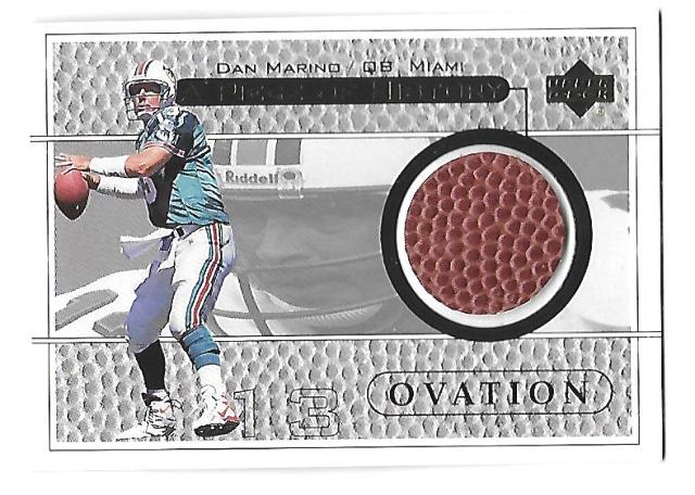 DAN MARINO 1999 Upper Deck UD Piece of History Ovation patch #DMH Miami Dolphins