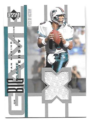 DAN MARINO 2002 Upper Deck UD Piece of History The Big Game Jersey patch #BGJDM