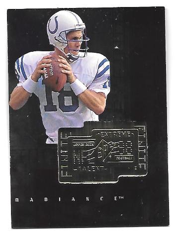 PEYTON MANNING 1998 Upper Deck SPX Finite Radiance Extreme Talent RC /3600 colts