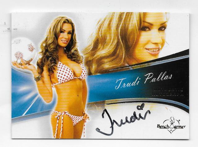 Trudi Pallas 2013 Benchwarmer Authentic Autograph #57 auto