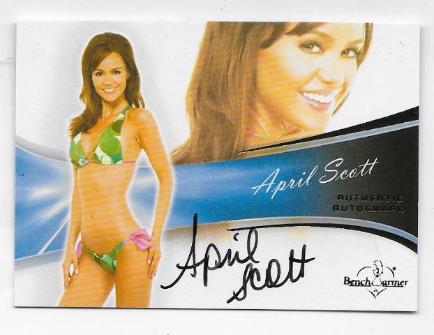 April Scott 2013 Benchwarmer Authentic Autograph #33 auto