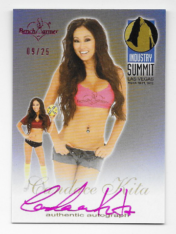 Candace Kita 2012 Benchwarmer Industry Summit Authentic Autograph /25