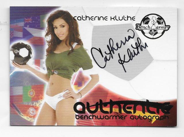 Cathrine Kluthe 2006 Benchwarmer Authentic Autograph auto/30