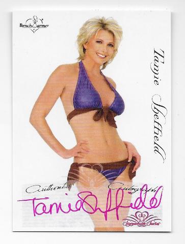 Tamie Sheffield 2005 Benchwarmer Signature Series auto #57 Autograph