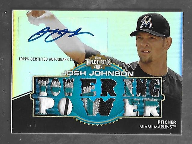 JOSH JOHNSON 2012 Topps Triple Threads Towering Power auto patch 1/3 Marlins