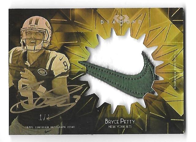 BRYCE PETTY 2015 Topps Diamond Rookie Jumbo Gold Ink patch auto 1/1 autograph