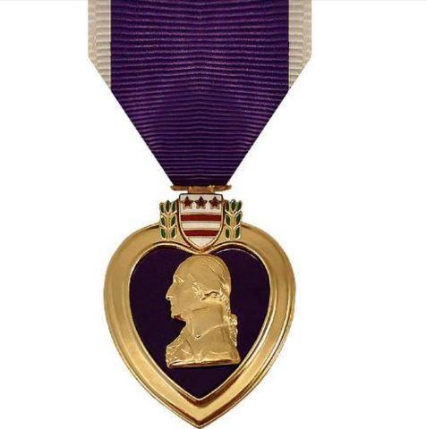 Vanguard Full Size 24K Gold Plated Purple Heart Military Medal Award (PH)