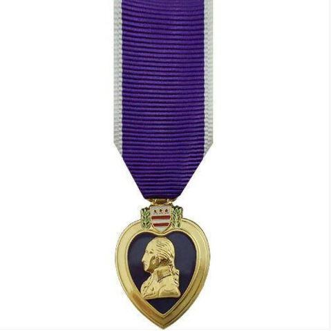 Vanguard (Mini) Miniature 24K Gold Plated Purple Heart Military Medal Award (PH)