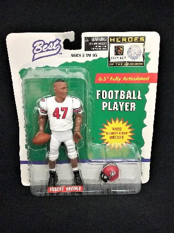 """1997 Robert Brooks Best Heroes of the Gridiron 6.5"""" Fully Articulated Removable Helmet South Carolina Gamecocks College Football McFarlane"""