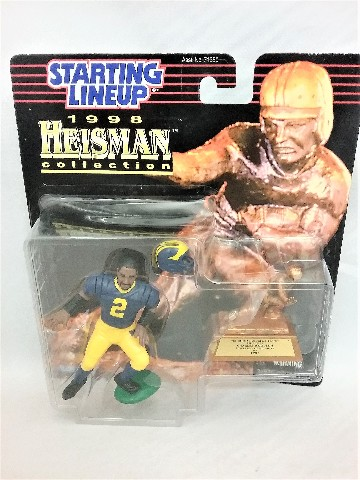 1998 Charles Woodson Starting Lineup Heisman collection 1997 University of Michigan Wolverines McFarlane
