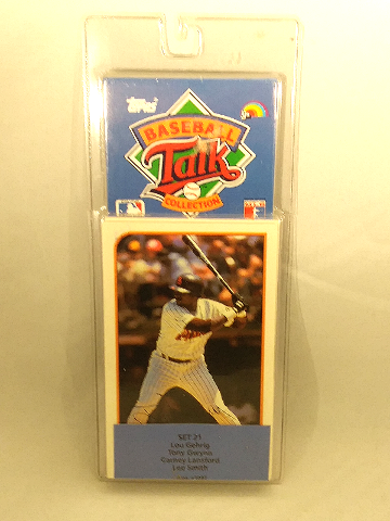 1989 Topps Baseball Talk Collection Set 21 Soundcards NIP NOS Lou Gehrig Gwynn