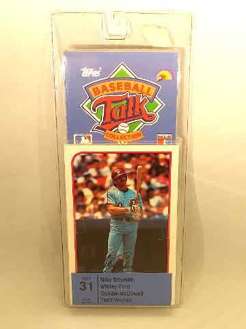 1989 Topps Baseball Talk Collection Set 31 Soundcard NIP NOS Whitey Ford Schmidt