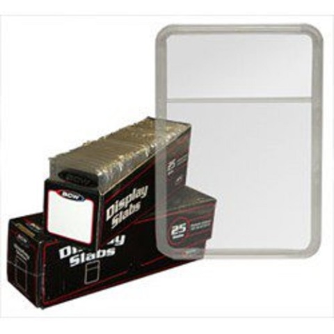 BCW Display Slabs Box of 25: (Use w/ Foam Inserts Sold Separately) Stamps Coins