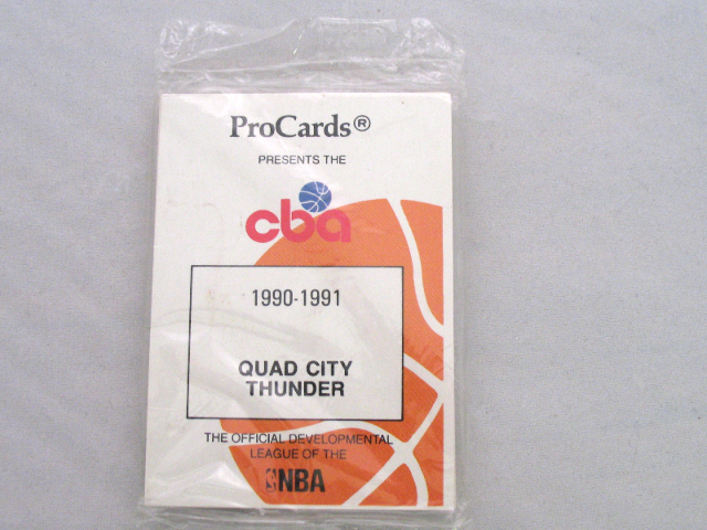 1990-1991 ProCards Quad City Thunder CBA Basketball Complete UNOPENED Team Set