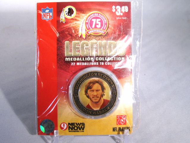 DON WARREN Washington Redskins Legends 2007 Collectible Medallion Coin